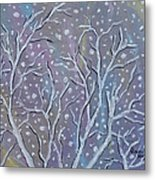White Branches Metal Print