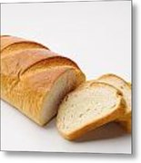 White Bread With Slices Metal Print