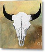 White Buffalo Skull Metal Print