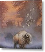 White Buffalo Spirit Metal Print