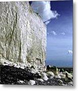 White Cliffs At Birling Gap Metal Print