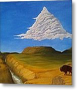 White Cloud Metal Print