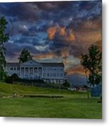 White Columns Under Evening Skies Metal Print
