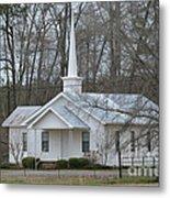 White Country Church Series Photo B Metal Print