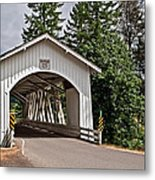 White Covered Bridge Hannah Bridge Art Prints Metal Print