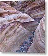 White Domes Slot Canyon - Vertical Metal Print
