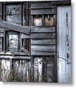 White Door. Metal Print