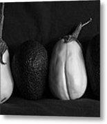 White Eggplant Metal Print