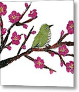 White Eye And Japanese Plum Tree Metal Print
