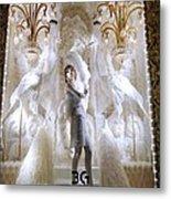 White Feathers Metal Print
