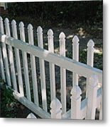 White Fence Provincetown Metal Print