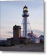 White Fish Point Lighthouse Metal Print
