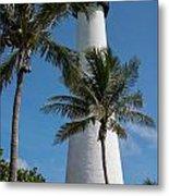 White Florida Lighthouse Metal Print