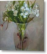 White Flowers        Copyrighted Metal Print