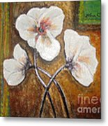 White Flowers Metal Print by Elena  Constantinescu