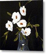 White Flowers In A Vase Metal Print