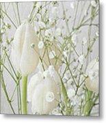 White Flowers Pii Metal Print