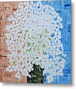 White Flowers Metal Print by Shruti Prasad