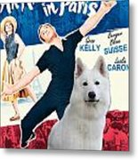 White German Shepherd Art Canvas Print - An American In Paris Movie Poster Metal Print
