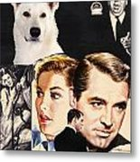 White German Shepherd Art Canvas Print - Suspicion Movie Poster Metal Print