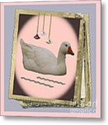 White Goose Series 2 Metal Print
