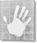 White Hand White Metal Print