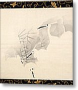 White Herons Metal Print