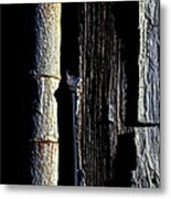White Hinge On The Old Red Barn Metal Print