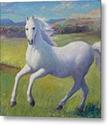 White Horse Metal Print by Gwen Carroll