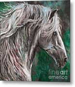 White Horse Painting Metal Print