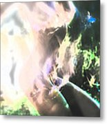 White Hot Fire Dancer Metal Print