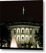 White House And Fountain Metal Print