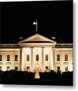 White House At Night Metal Print