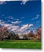 White House Lawn In Spring Metal Print