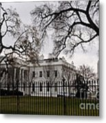 White House On A Cloudy Winter Day Metal Print