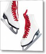 White Ice Skates With Red Laces Metal Print by Oleksiy Maksymenko