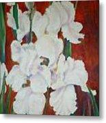 White Irises Metal Print