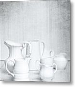 White Jugs Metal Print by Amanda Elwell