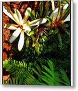White Maui Flowers Metal Print