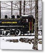 White Mountains Railroad And Train Metal Print