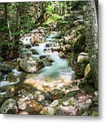 White Mountains Stream Metal Print