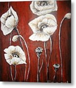 White Poppies Metal Print by Elena  Constantinescu