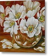 White Poppies Metal Print by Summer Celeste