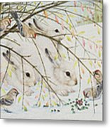 White Rabbits Metal Print