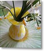 White Rays And Narcissus Metal Print