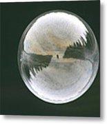 White Reflections Metal Print