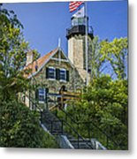 White River Lighthouse In Whitehall Michigan No.057 Metal Print