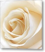 White Rose Heart Metal Print
