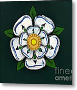 White Rose Of York Metal Print