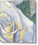 White Rose Two Panel Two Of Four Metal Print